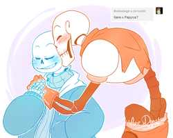 Undertale - Ask: ME TOO I LOVE YOU BROTHER ! by Yore-Donatsu