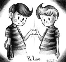 Pk Love: Lucas and Claus by OmitsuMarceXD