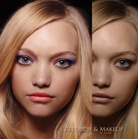 Retouch and change makeup by xaide89