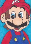 Mario Sketch Card by Dangerskillz