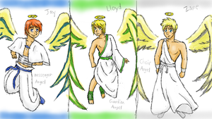 Ninjago Angels by greengigal