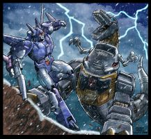 Grimlock no like snow by LiamShalloo