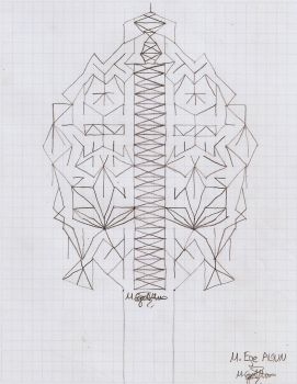 Charcoal Symmetric Tree by MEAltair