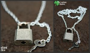 Lock and Key Necklace by Louness26