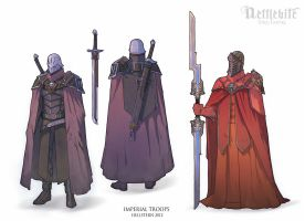 Imperial troops by Hellstern