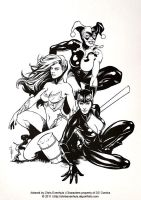 Gotham City Sirens inks by ChrisEvenhuis