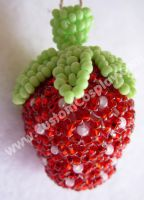Beaded strawberry by The-Cute-Storm