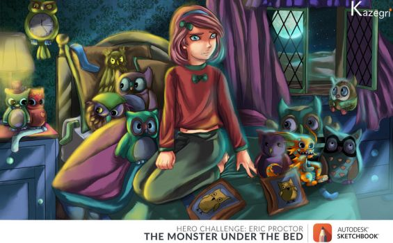 The Monster Under the Bed by kazegri