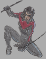 Nightwing Practice by ClutterCluster