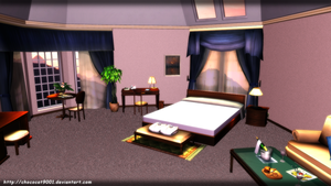 Bedroom Scenery - MMD stage DL by chococat9001