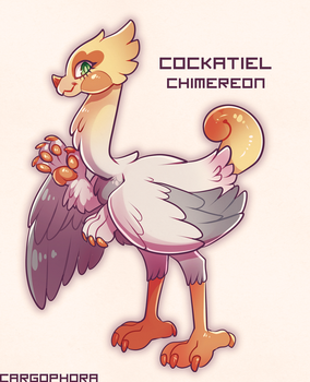 MYO Contest: Cockatiel Chimereon by Cargorabbit