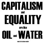 CAPITALISM and EQUALITY by davespertine