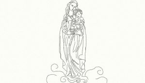 White Madonna Sketch by anelphia