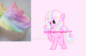 Pastel Rainbow Cupcake Custom For Crystal--Frost!~ by SugariCakePonyArtist