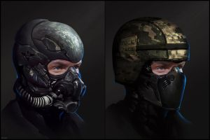 Soldier headgear by DanarArt