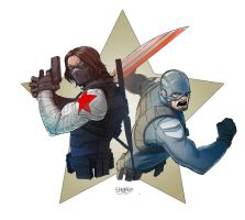 Steve and Bucky by TheBabman