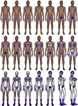 Fei Robotics style Gynoid MtF transformation by NukuNookee
