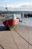 fishing boats anchored in Youghal bay by morrbyte