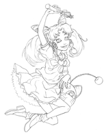 Puella Lunae (pencils) by KenjisArtDump