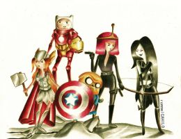 Avenger Time by rommeldrawlines-12