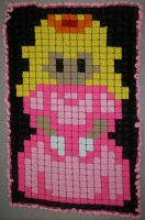 Princess Peach Granny Square Blanket by BardicKitty