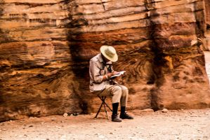 People in Petra by ShlomitMessica