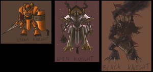 Steam Knights-Types by Hazu-haze