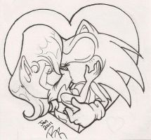 Sonic and Sally Sweet Kiss by KissTheThunder