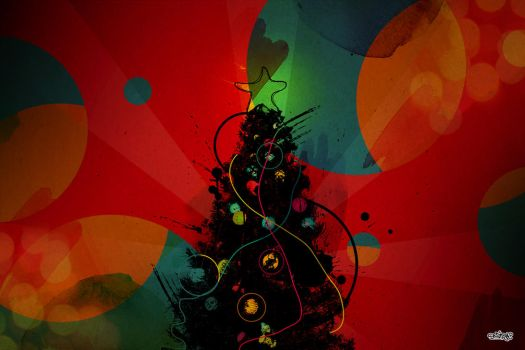 My dark retro Xmas by SmirapDesigns