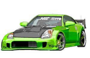 MS Paint Nissan 350Z by SinglePost