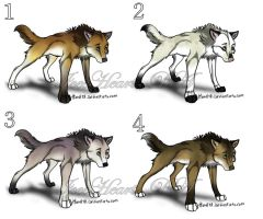Wolf adoptables 1 -CLOSED by IceeHeart