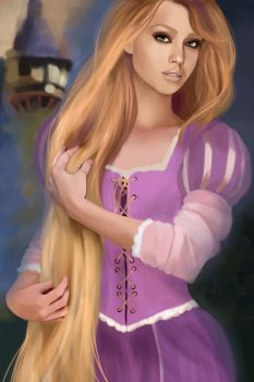 Jessica Alba as Rapunzel by MartaDeWinter