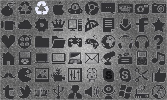 Flat Gray Icons by sammi879