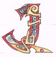 'J' in celtic script by Tetsu-Raven