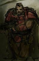 Blood Angel Scout by Nalro