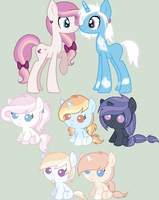 Foals for LittleSnowyOwl by SarasAdoptables