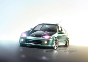 Javiers Honda Civic by kris-burgos
