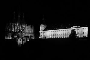 Cathedral of St. Barbara B/W by Nessa293