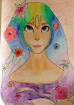 Lady Of The Flowers by StarshineTheCat1