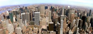 Manhattan Skyline Panorama by astroguy