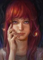 Dreamy Redhair by Maximko