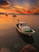 sunset at bodrum by 1poz