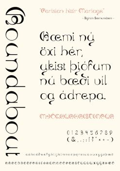 Roundabout the font by listaspiran