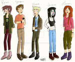 FLYGHT CHARACTERS minus the last two by onedaysoon