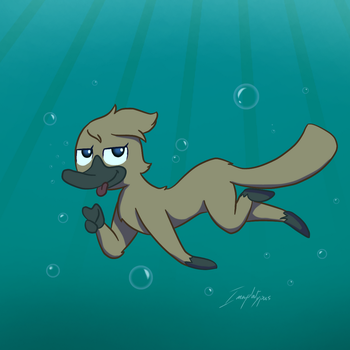 Why be a Mermaid When You're a Semiaquatic Mammal by Imaplatypus