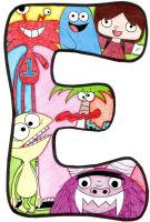 E - Fosters Home Imaginary Friends by Poefish