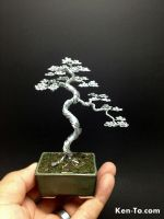 A large literati wire bonsai tree by Ken To by KenToArt