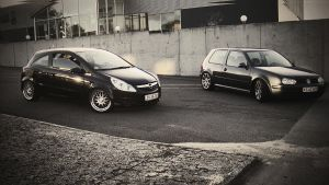 VW GOLF 4 And Opel Corsa by Clipse89