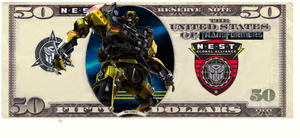 NEST MONEY 50 dollar bill by Baconette