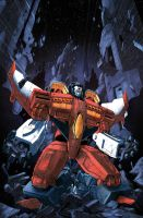 Dark Cybertron issue 3 Casey Cover by dcjosh